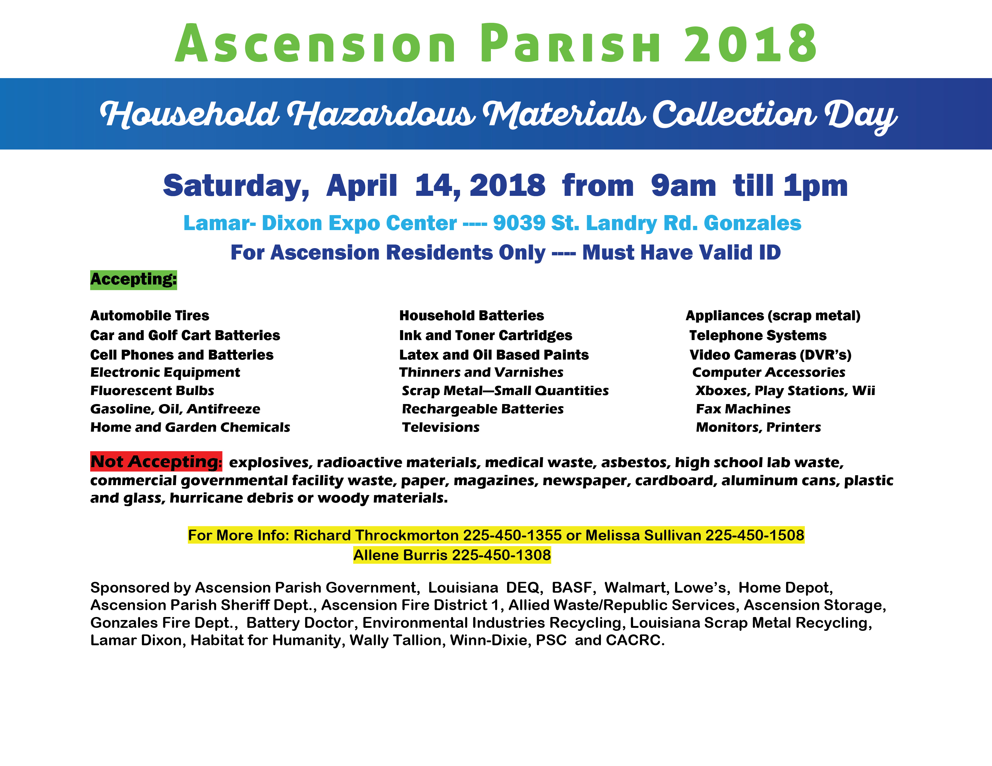 Ascension Parish Official Website Of Ascension Parish Government - Free invoice templates pdf american girl doll store online