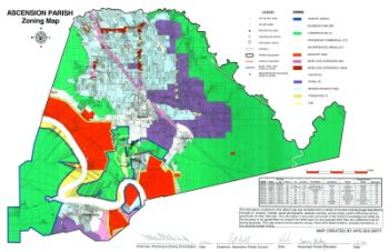 Ascension Parish Zoning Map