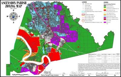 Ascension Parish Zoning Map